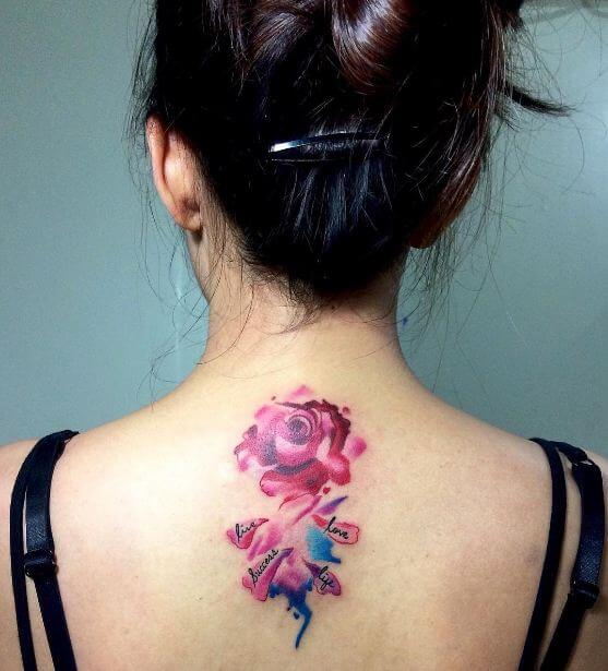 Rose Tattoo Watercolor
