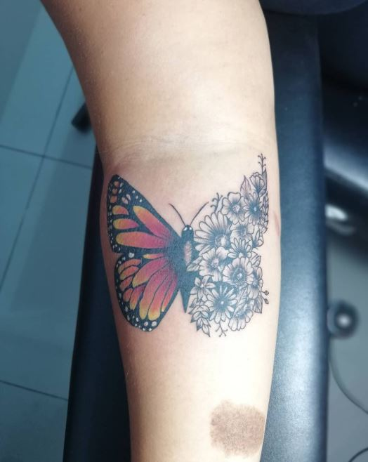 Roses And Butterfly Tattoos