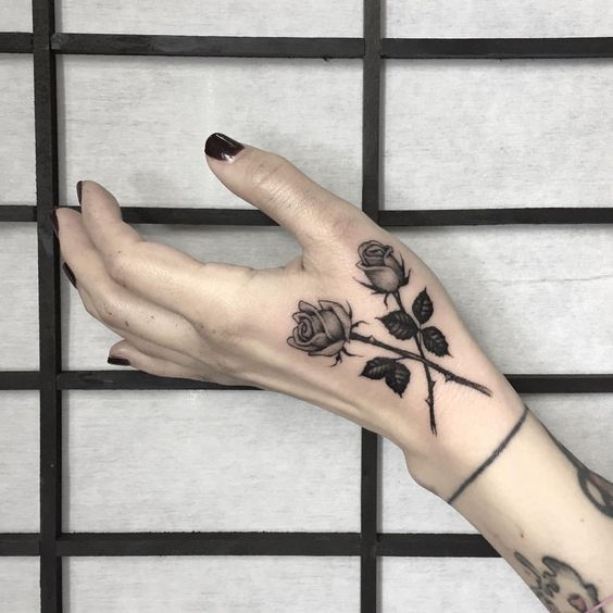 Roses On Arm Tattoos (1)