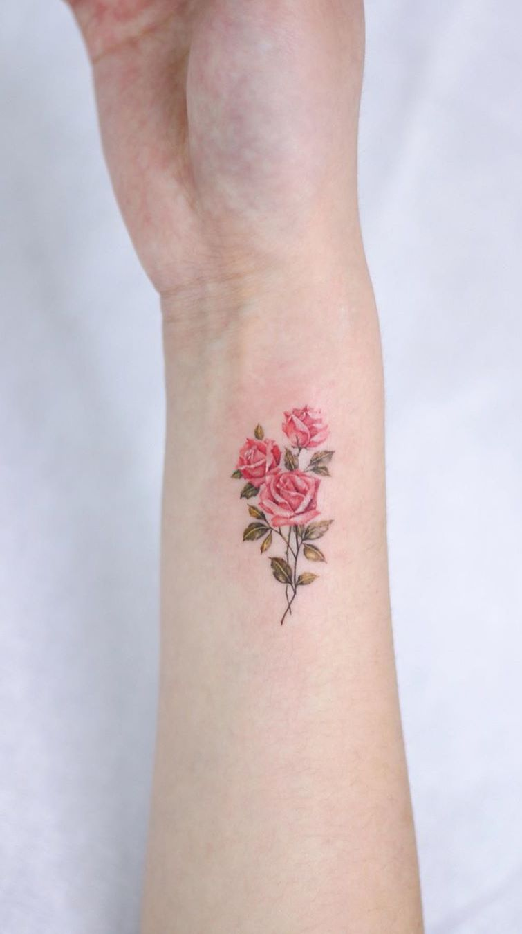 Roses Tattoos On Back (8)