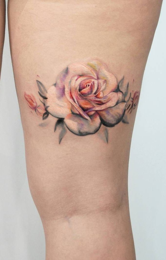 Roses Tattoos On Side (3)