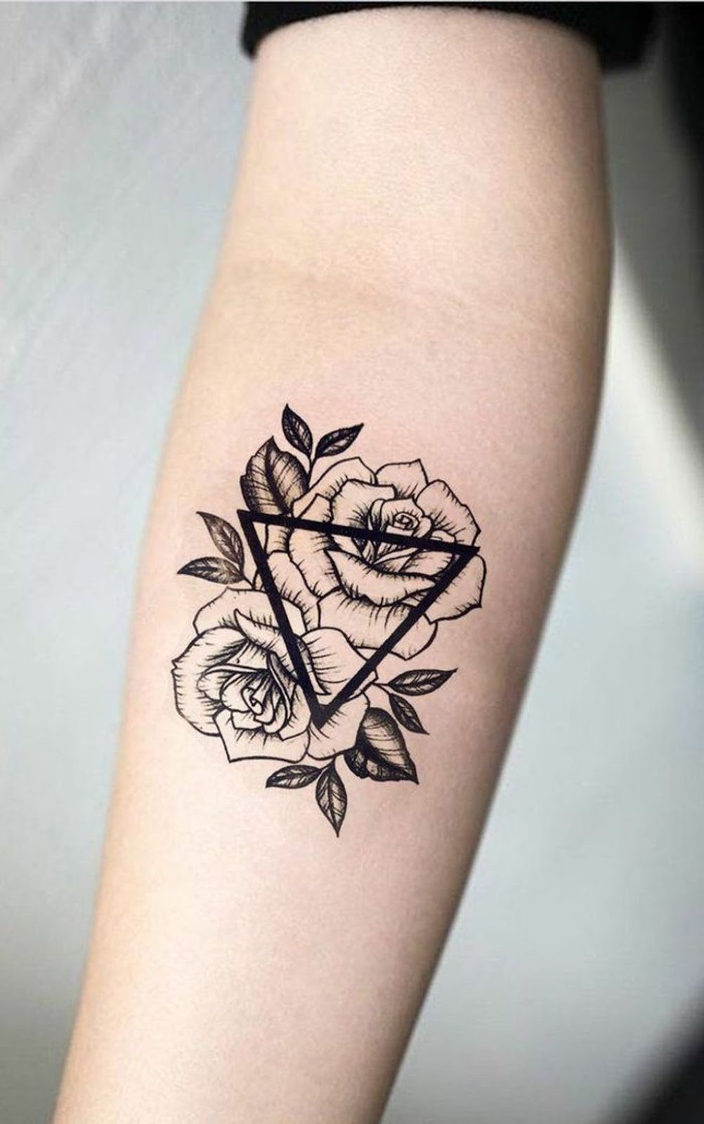 Roses With Names Tattoos (10)