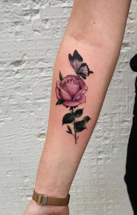 Roses With Names Tattoos (3)