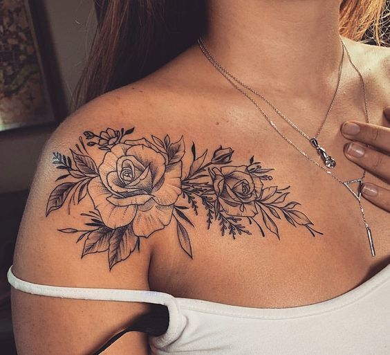 Roses With Names Tattoos (4)