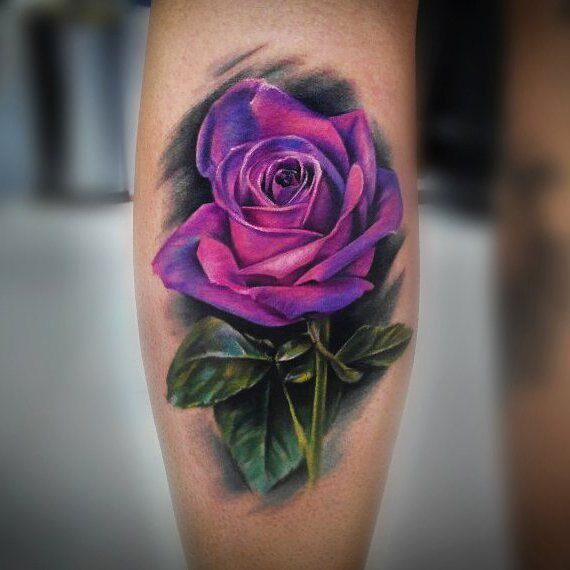 Roses With Names Tattoos (7)