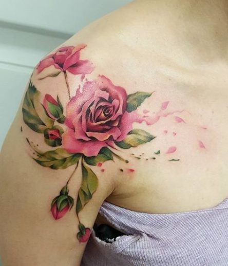 Roses With Names Tattoos (9)