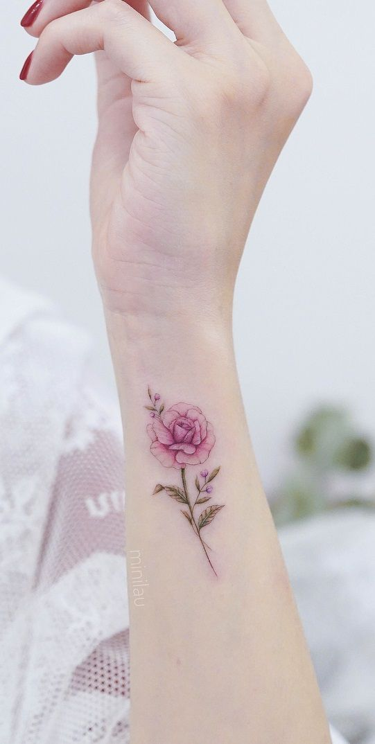 Roses With Pearls Tattoo (7)