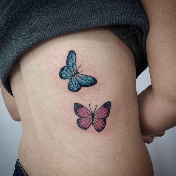 Side Butterfly Tattoos