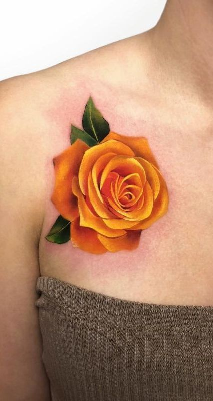 Side Rose Tattoos Female (1)