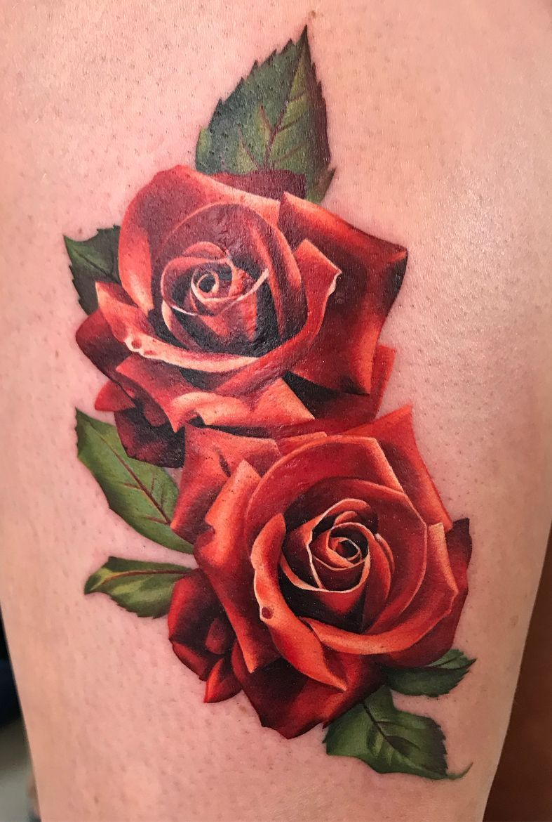 Side Rose Tattoos Female (11)