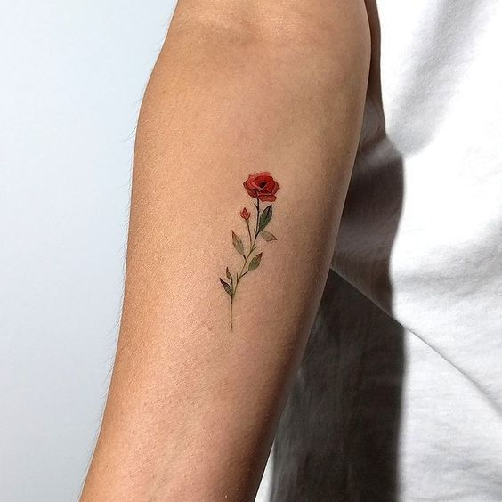 Side Rose Tattoos Female (2)