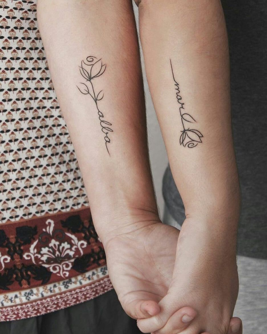 Side Rose Tattoos Female (6)