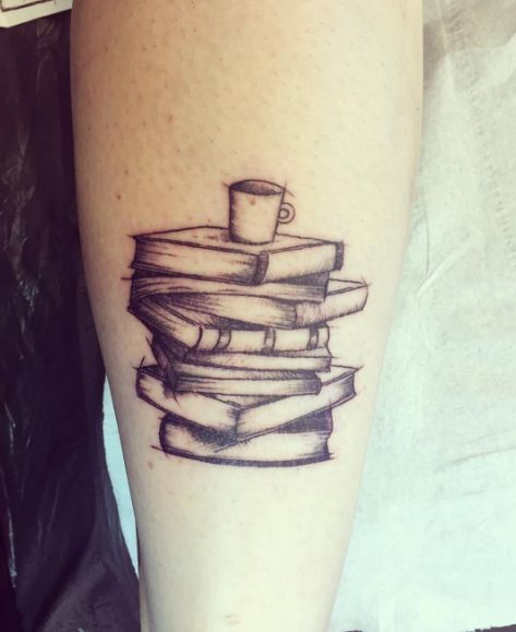 Sketch Style Book Tattoos