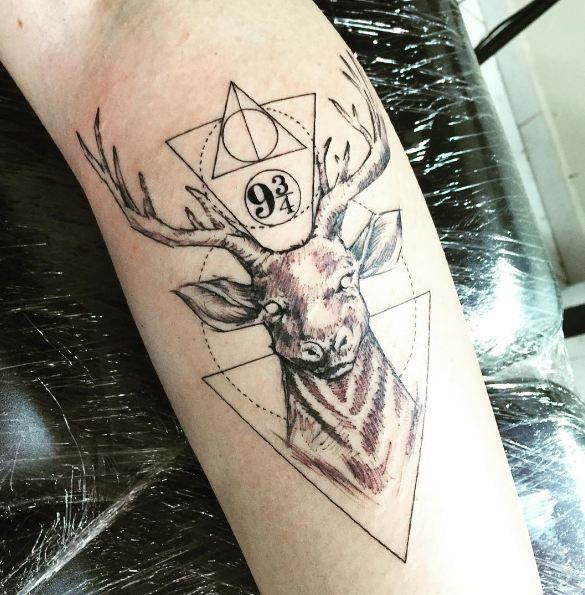 Sketch Style Deer Tattoos