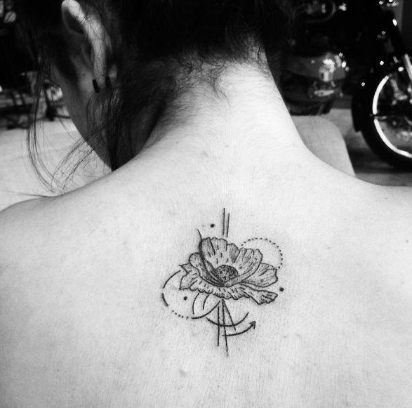 Sketch Style Flower Tattoos