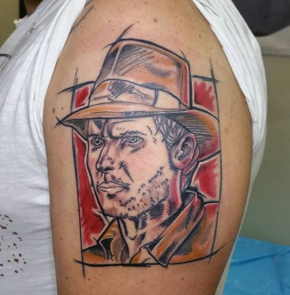 Sketch Style Indiana Jones Tattoos