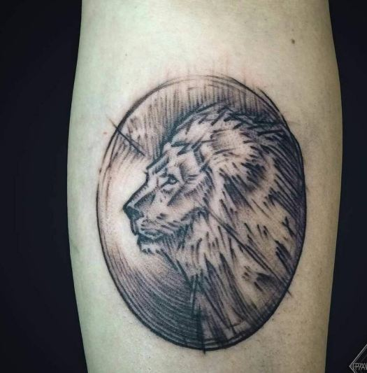 Sketch Style Lion Tattoos