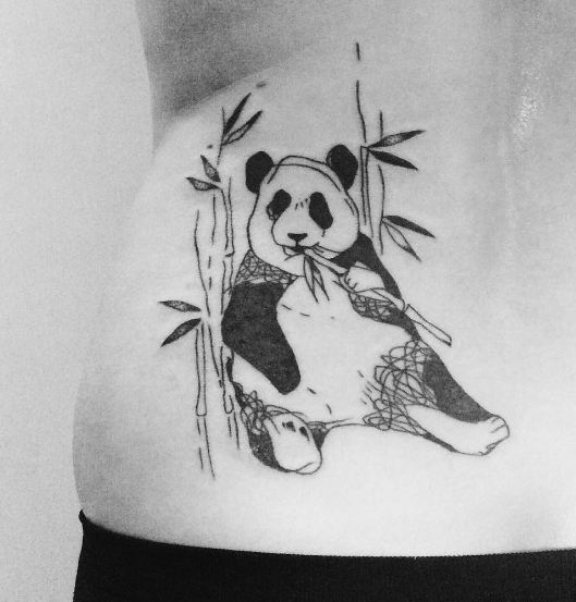 Sketch Style Panda Tattoos