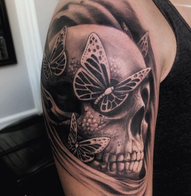Skull Butterfly Tattoos