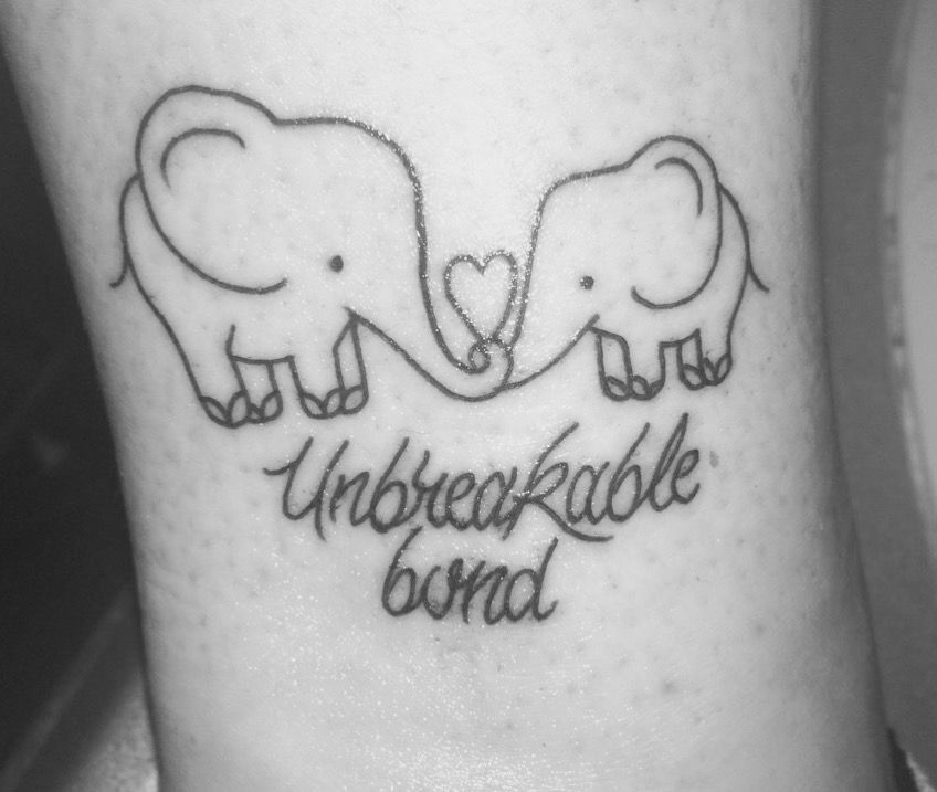Small Matching Tattoo For Mother And Daughter (8)