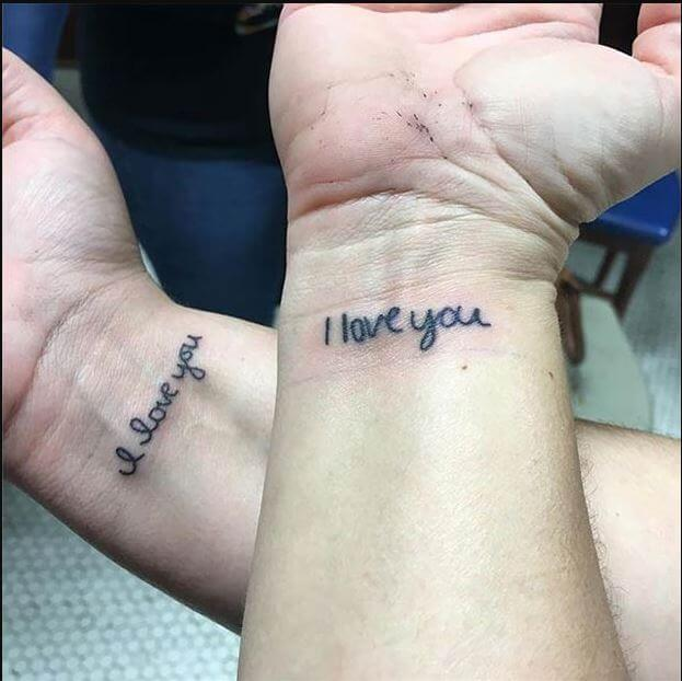 Small Mother Daughter Tattoos