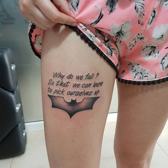 Small Thigh Tattoos