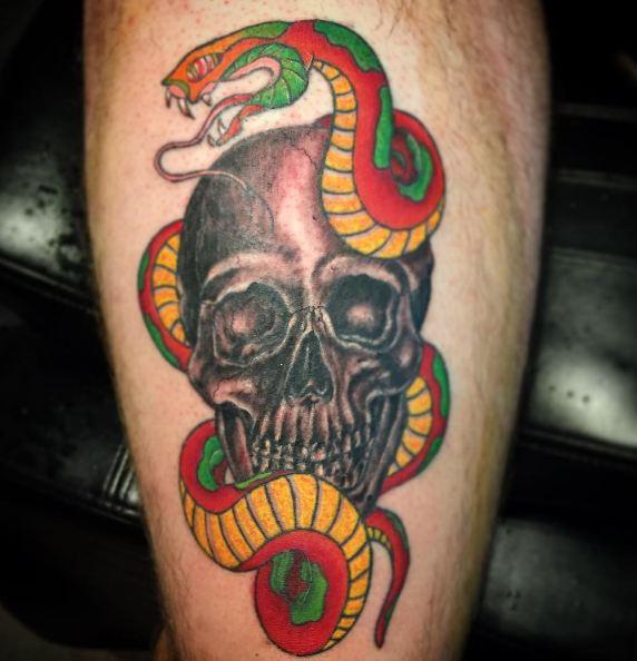 Snake Leg Tattoos