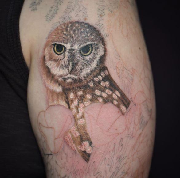Snow Owl Tattoos