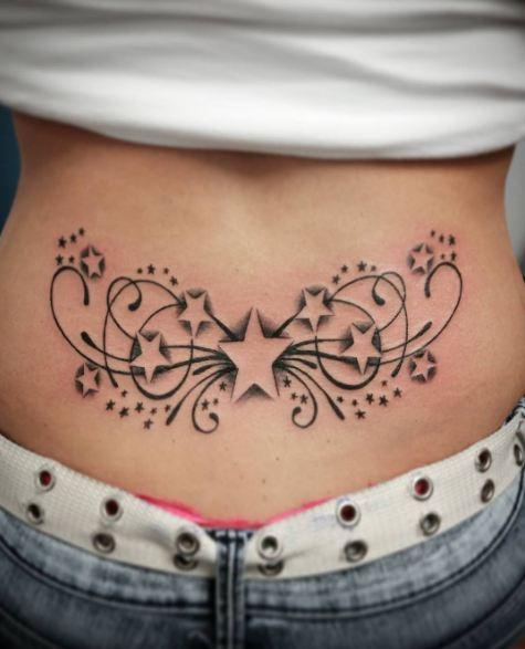 Star Lower Back Tattoos