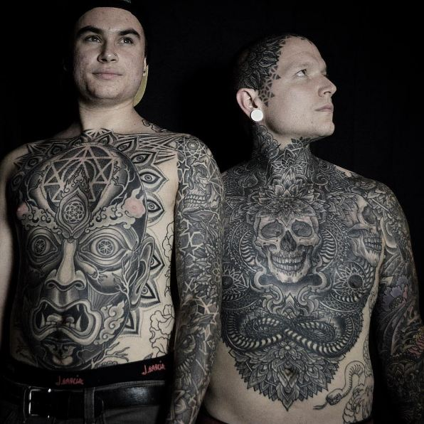 Suga Skull With Full Body Tattoos