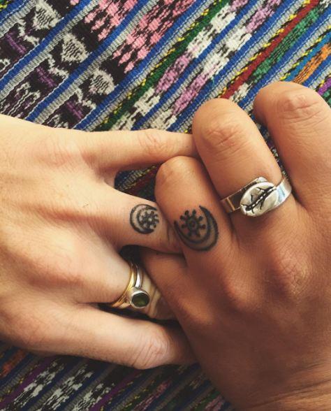 Sun And Moon Couple Tattoos