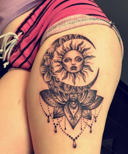 Sun And Moon Tattoo Bohemian
