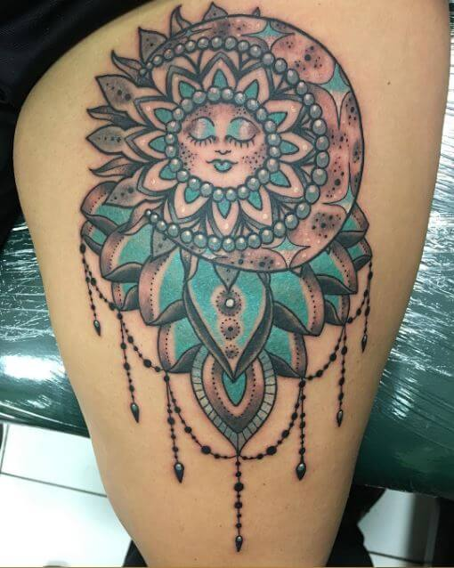 Sun And Moon Tattoos Designs