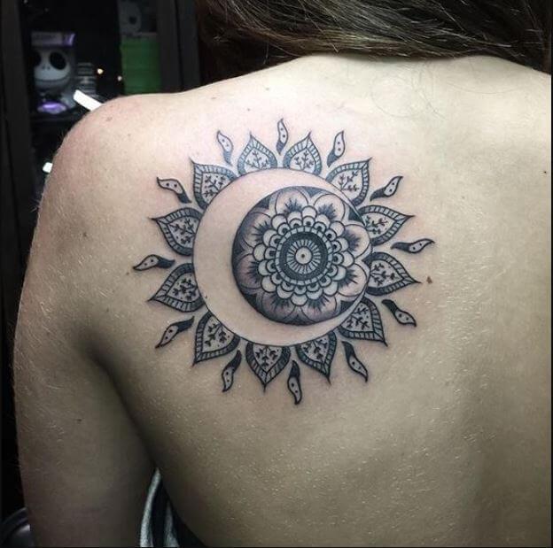 Sun And Moon Tattoos Mandala