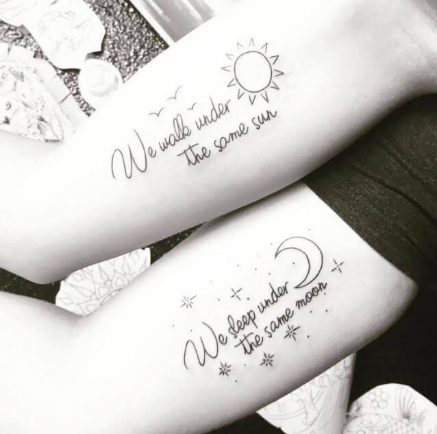 Sun And Moon Tattoos With Quotes