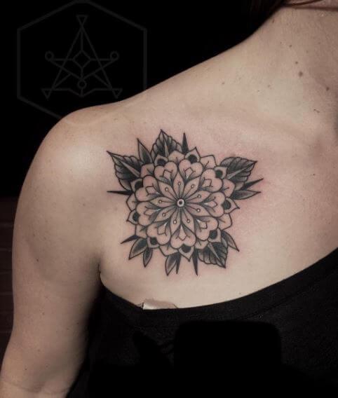 Sunflower Mandala Tattoo