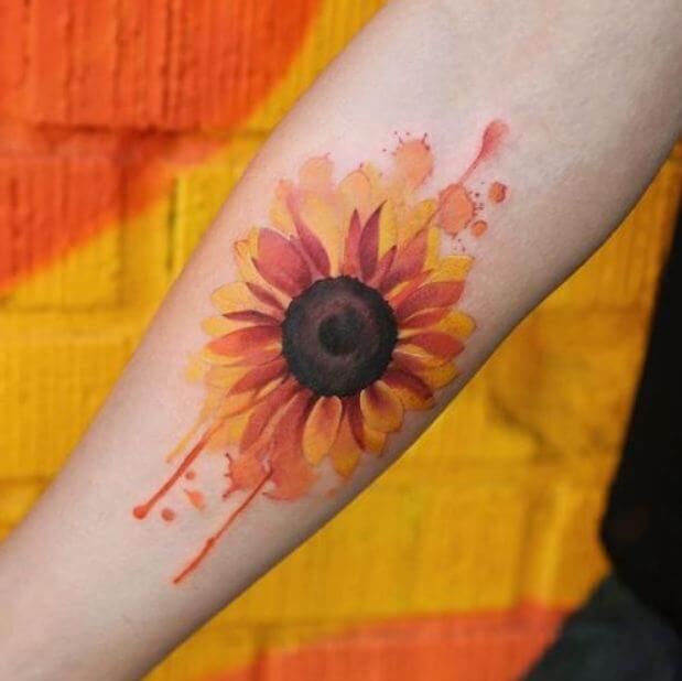 Sunflower Tattoos Watercolor