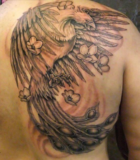 Tattoo Phoenix Ventre