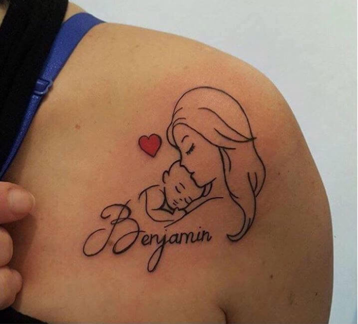 Tattoos With Kids Names For Mom