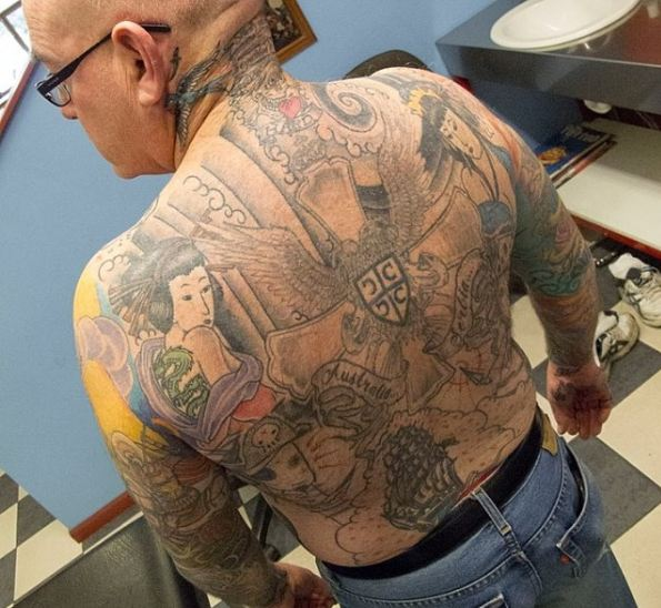 Traditional Full Body Tattoos On Back