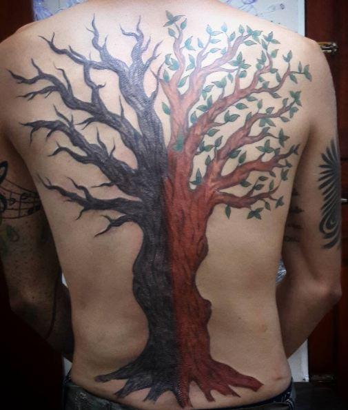 Tree Back Tattoos