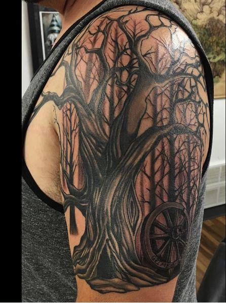 Tree Sleeve Tattoos