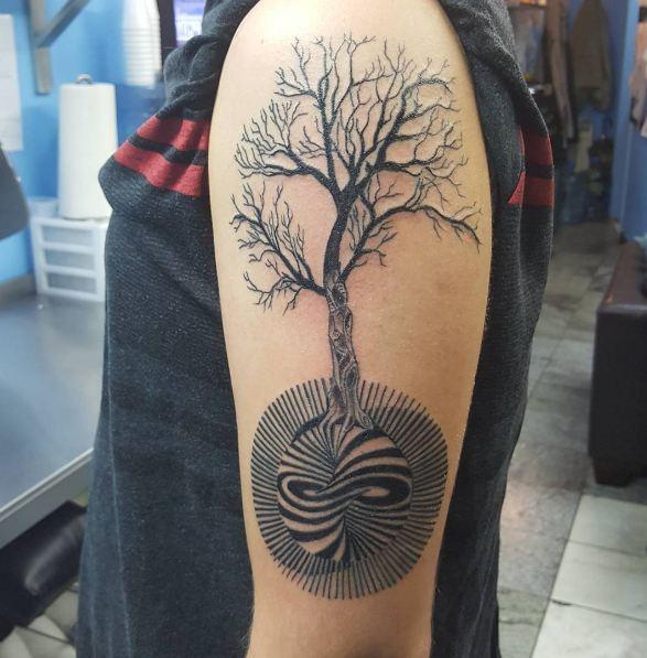 Tree Tattoos On Biceps