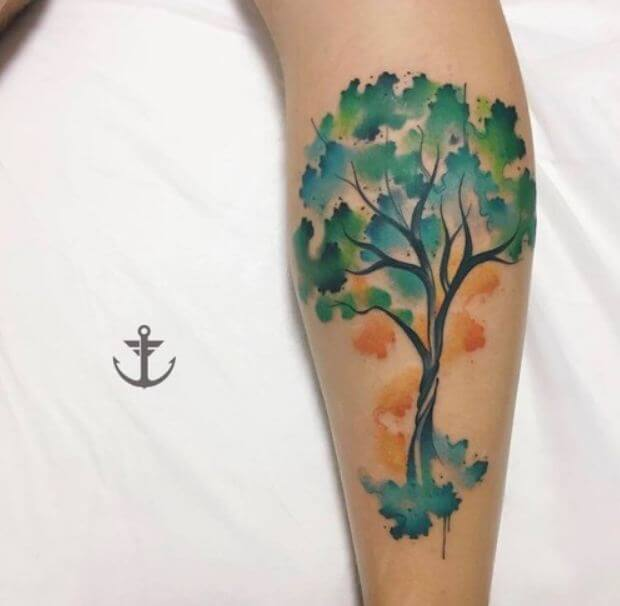 Tree Tattoos Watercolor