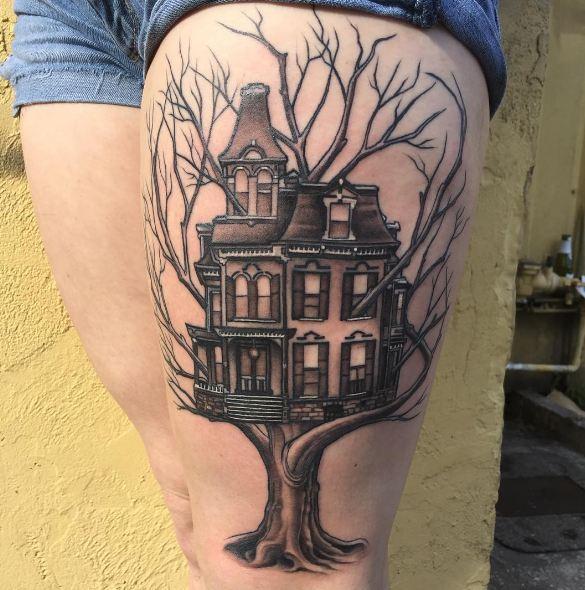 Tree Thigh Tattoos
