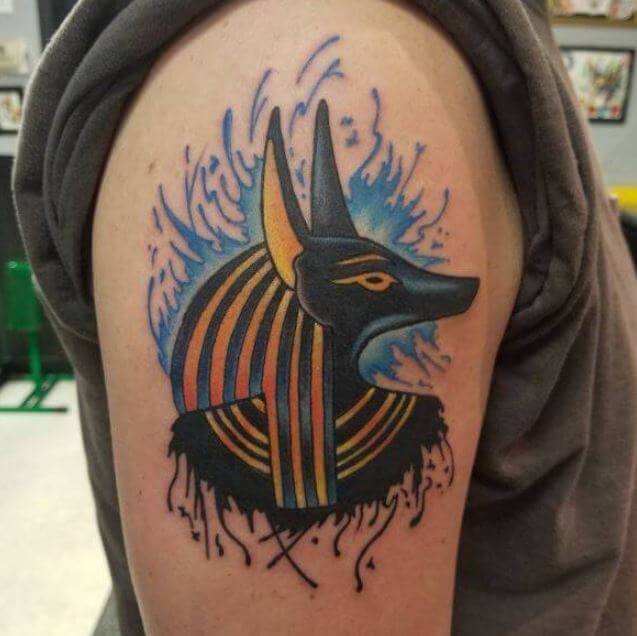 Tribal Anubis Tattoo