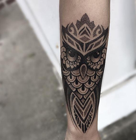 Tribal Owl Tattoos