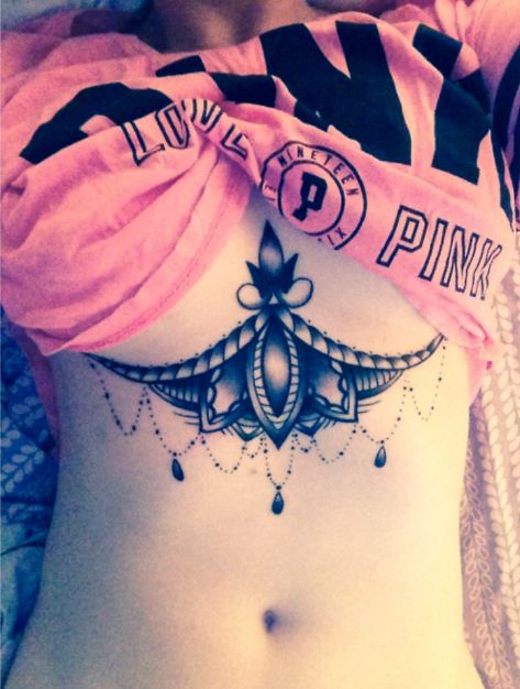 Under Chest Tattoos For Women
