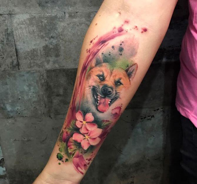 Watercolor Cover Up Tattoo