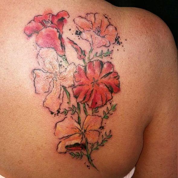 Watercolor Daisy Tattoos